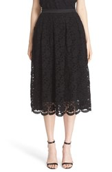 St. John Women's Collection Floral Lace Skirt