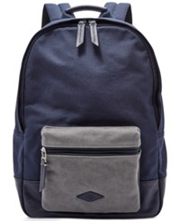 Fossil Estate Canvas Backpack Blue
