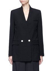 Helmut Lang Double Breasted Technical Suiting Blazer Black