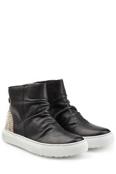 Fiorentini And Baker Bolt Leather Sneakers With Snake Print Black
