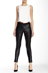 Bobi Faux Leather Front Legging Black