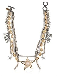 Venna Stars Multi Chain Necklace