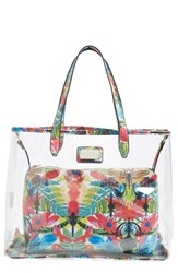 Cxl By Christian Lacroix 'Amaryllis' Clear Tote Green Caribe