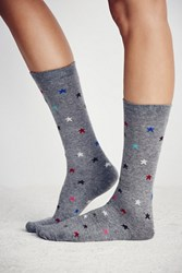 Lisa B Lucky Star Crew Sock