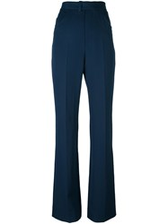 Maison Martin Margiela Flared Trousers Blue