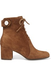 Gianvito Rossi Finlay Suede Ankle Boots Brown