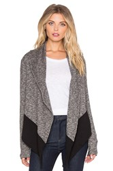 Bobi French Terry Light Weight Cashmere Cardigan Black