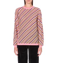 Aalto Striped Wool Jumper Pink Stripe
