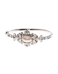 Marchesa Bohemian Dream Swarovski Crystals Bangle Bracelet Silver