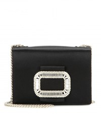 Roger Vivier Tiffany Micro Embellished Shoulder Bag Black