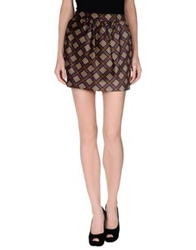 Dandg D And G Mini Skirts Dark Brown