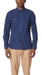 Todd Snyder Double Pocket Shirt Navy