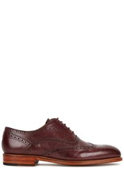 Oliver Sweeney Aldeburgh Dark Burgundy Leather Brogues