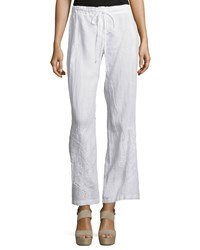 Johnny Was Vomera Embroidered Drawstring Pants Women's