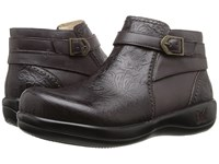 Alegria Dylan Molasses Tooled Women's Slip On Shoes Brown