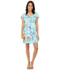 Lilly Pulitzer Duval Dress Pool Blue Stay Cool Women's Dress