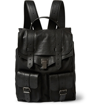 Proenza Schouler Ps1 Leather Trimmed Nylon Backpack Black