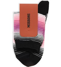 Missoni Striped Ankle Socks 0001 Black