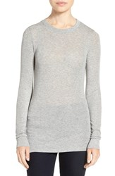 Trouve Women's Sheer Layering Tee Grey Heather