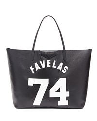 Antigona Favelas 74 Large Leather Shopping Tote Black White Givenchy
