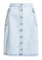 Superdry Button Down Midi Skirt Ice