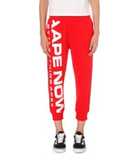 Aape By A Bathing Ape Logo Cotton Blend Jogging Bottoms Red