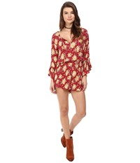 Volcom Roadtrip Mix Romper Brick Women's Jumpsuit And Rompers One Piece Red