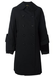 Comme Des Garcons Double Breasted Trench Coat Black