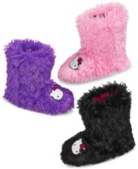 Hello Kitty Shag Boot Slipper Black