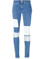 House Of Holland Patched Skinny Jeans Blue