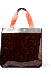 Monreal London Hero Leather Trimmed Pvc And Coated Canvas Tote Tortoiseshell