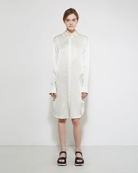 Jil Sander Amarillo Silk Shirt Dress Natural