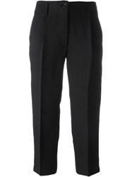 Forte Forte Front Pleat Cropped Pants Black