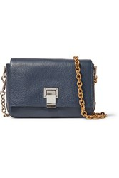 Proenza Schouler Courier Small Textured Leather Shoulder Bag Storm Blue