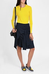 Rag And Bone Tie Front Button Skirt Navy