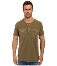 Lucky Brand Short Sleeve Two Pocket Henley Beech Men's Short Sleeve Pullover Beige