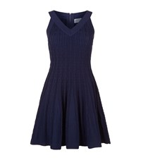Milly Textured Tech Flare Dress Female Navy