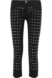 Junya Watanabe Studded Wool Straight Leg Pants Black