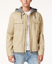 Tavik Men's Droogs Full Zip Jacket Khaki Hthr