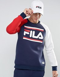 Fila Vintage Black Retro Sweatshirt Navy