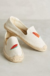 Anthropologie Soludos Picnic Espadrilles Sand Woven 10 Flats