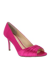 Nina Vesta Open Toe Pumps Pink
