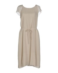 Antonio Fusco Dresses Knee Length Dresses Women Beige
