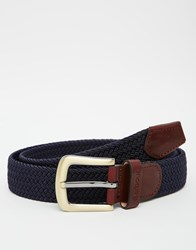 Barbour Stretch Webbing Belt Navy Blue