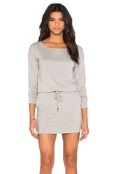Michael Stars Off The Shoulder Drawstring Dress Gray