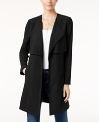 Inc International Concepts Draped Trench Coat Only At Macy's Deep Black