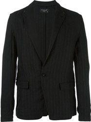 Transit Striped Blazer Black