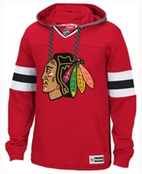 Reebok Men's Chicago Blackhawks Jersey Pullover Hoodie Red