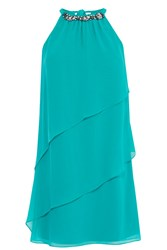 Coast Jocee Neck Trim Dress Green
