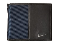 Nike Leather Tech Twill Billfold Navy Bill Fold Wallet